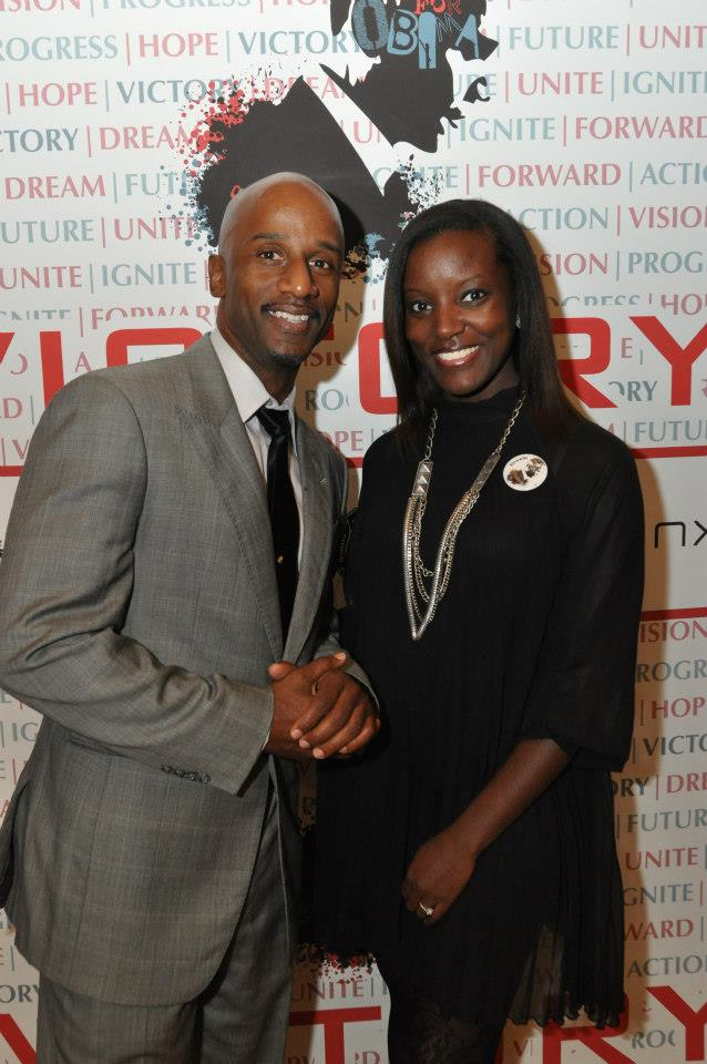 Emcees Damon Williams and Thaisa Gee - Obama for America Fundraiser